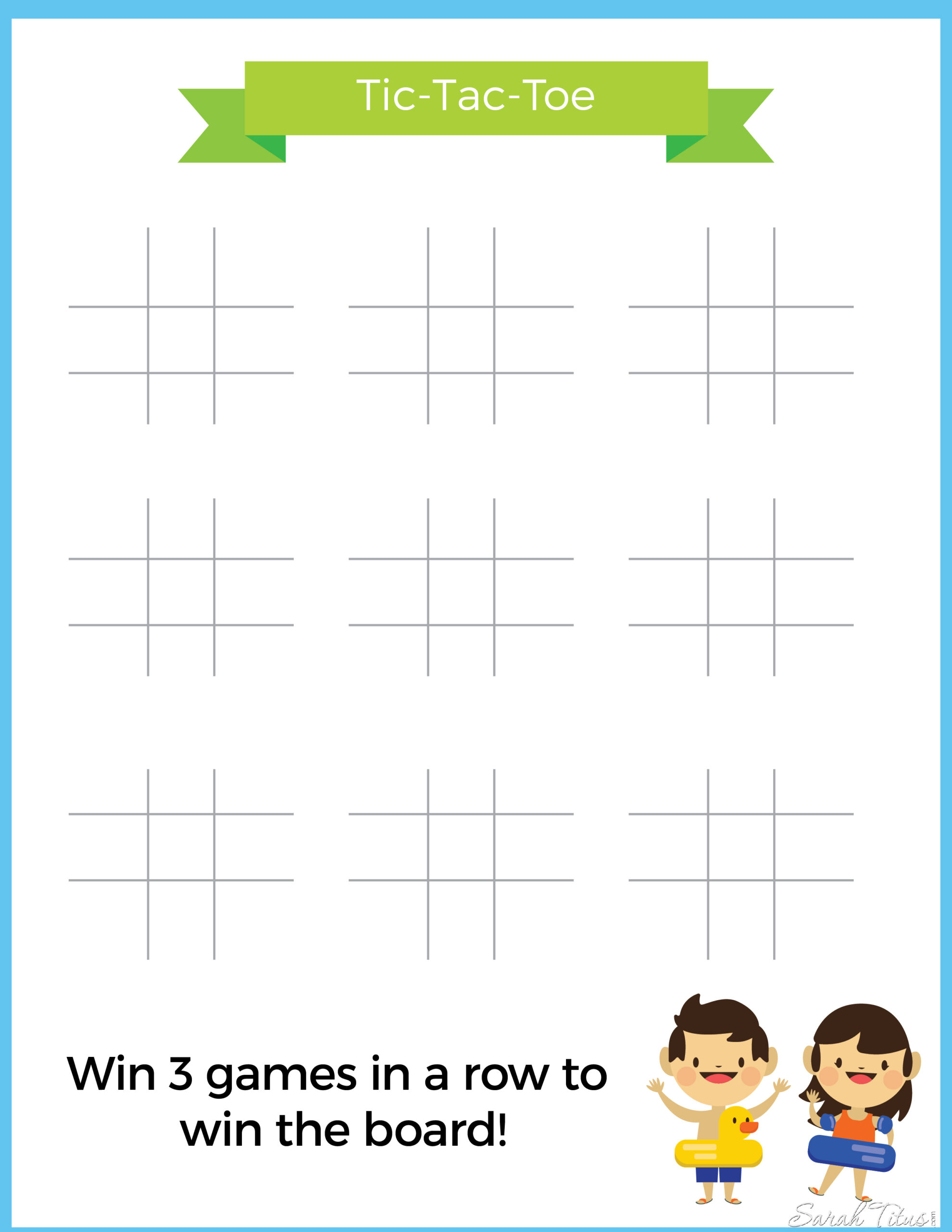 photo relating to Free Printable Tic Tac Toe Board named Generate Binder: Tic Tac Toe - Sarah Titus