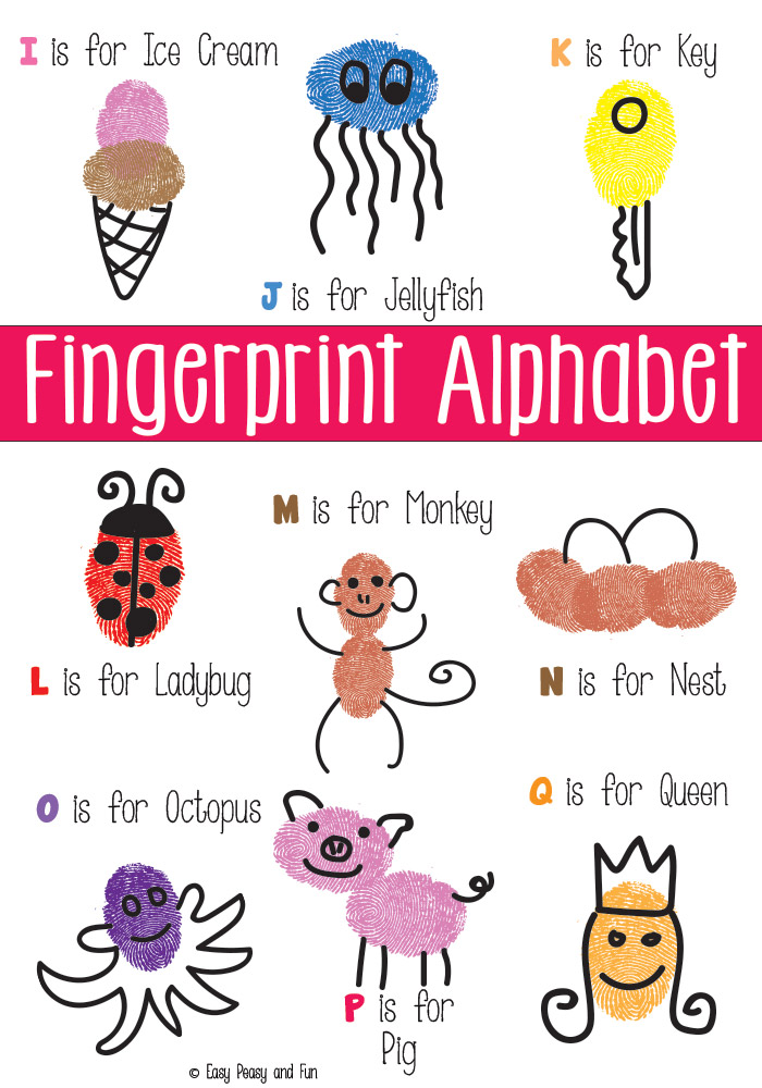 Teach your preschooler their letters with these adorable Alphabet fingerprints!