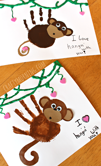 If you like making Homemade Valentines, then you need to make these Monkey Valentines!