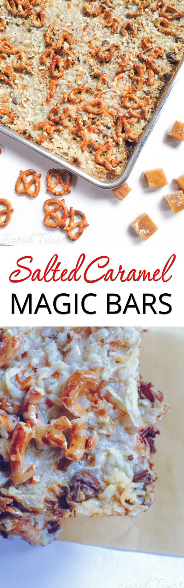 These Salted Caramel Magic Bars taste like you've spent much more time preparing them than you actually do. Sure to impress your guests this holiday season!
