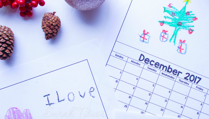 This DIY personalized calendar idea is brilliant. Have your kids color it and give it to grandparents this Christmas!