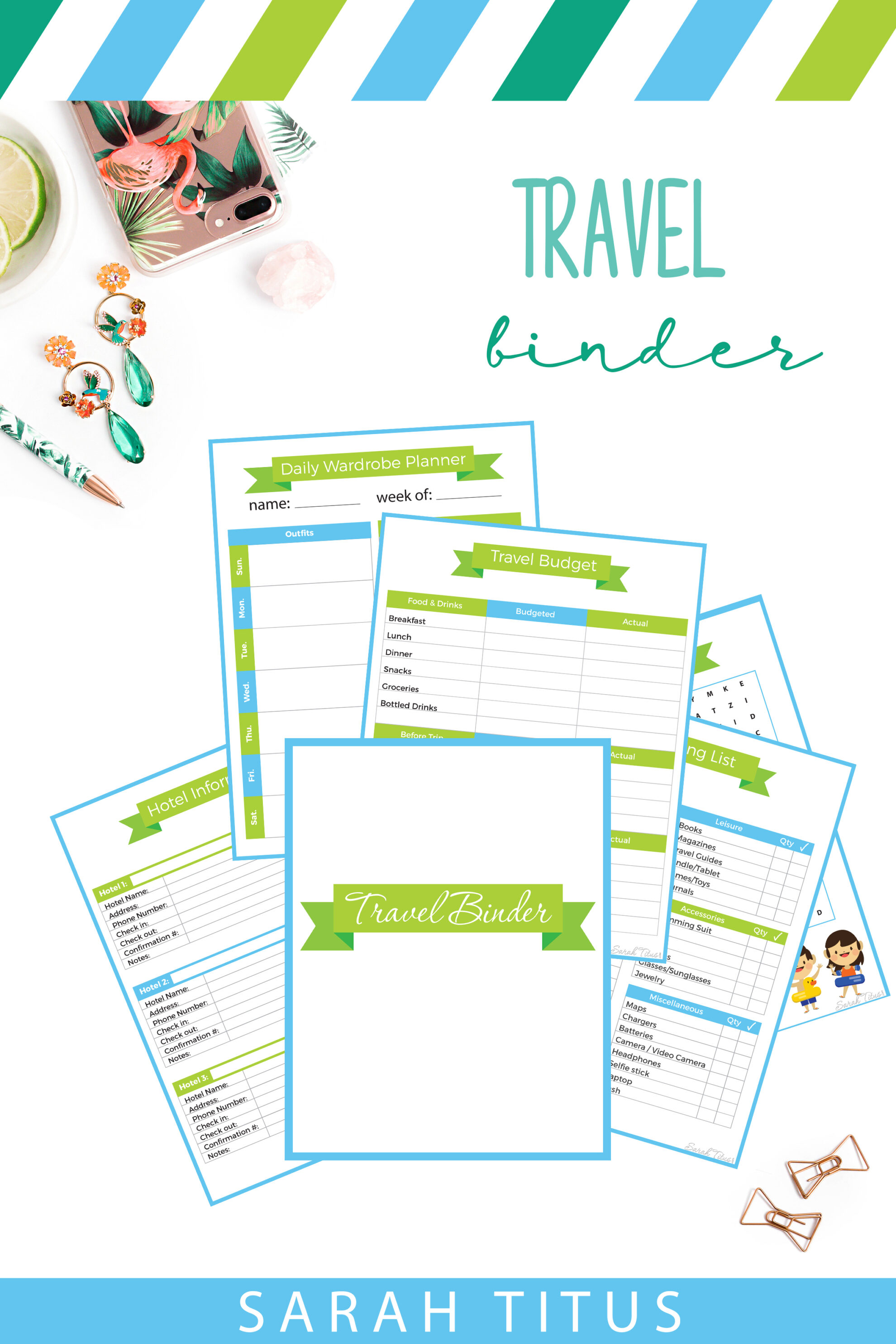 Travel Binder Sarah Titus