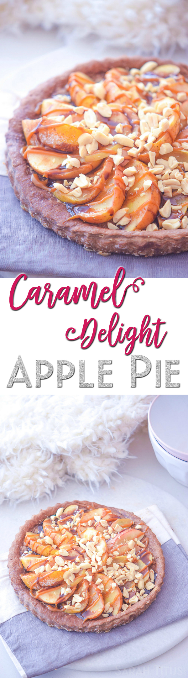 This Caramel Delight Apple Pie is a combination of caramel apples and your favorite baked apple pie. It's creamy, delicious, and perfect for the holidays!