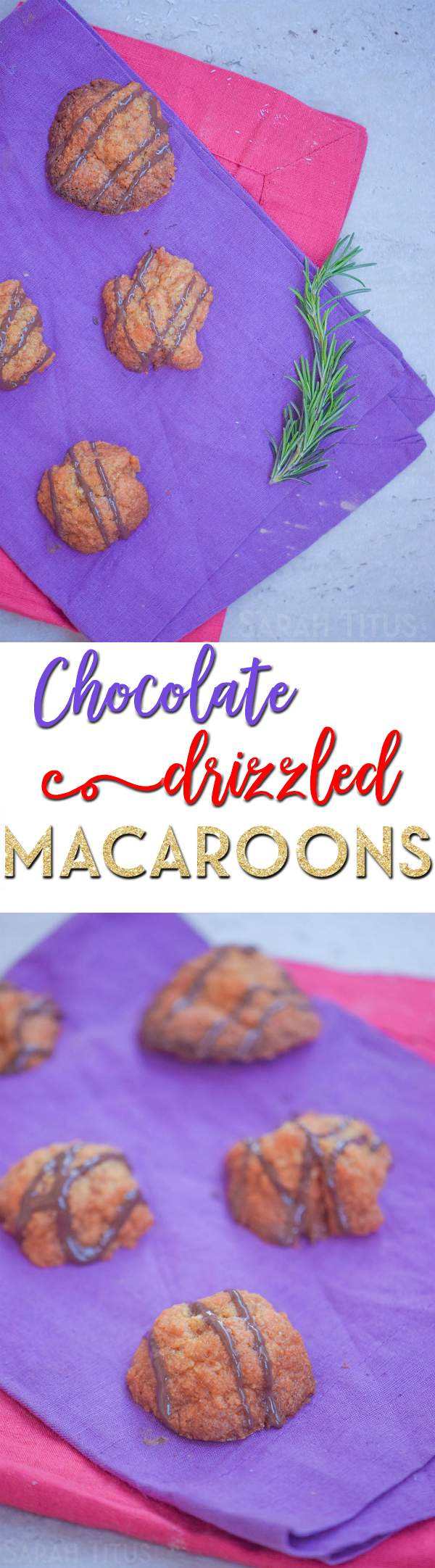 These chocolate drizzled macaroons are the PERFECT recipe if you love coconut treats, and the maple syrup makes them super decadent!