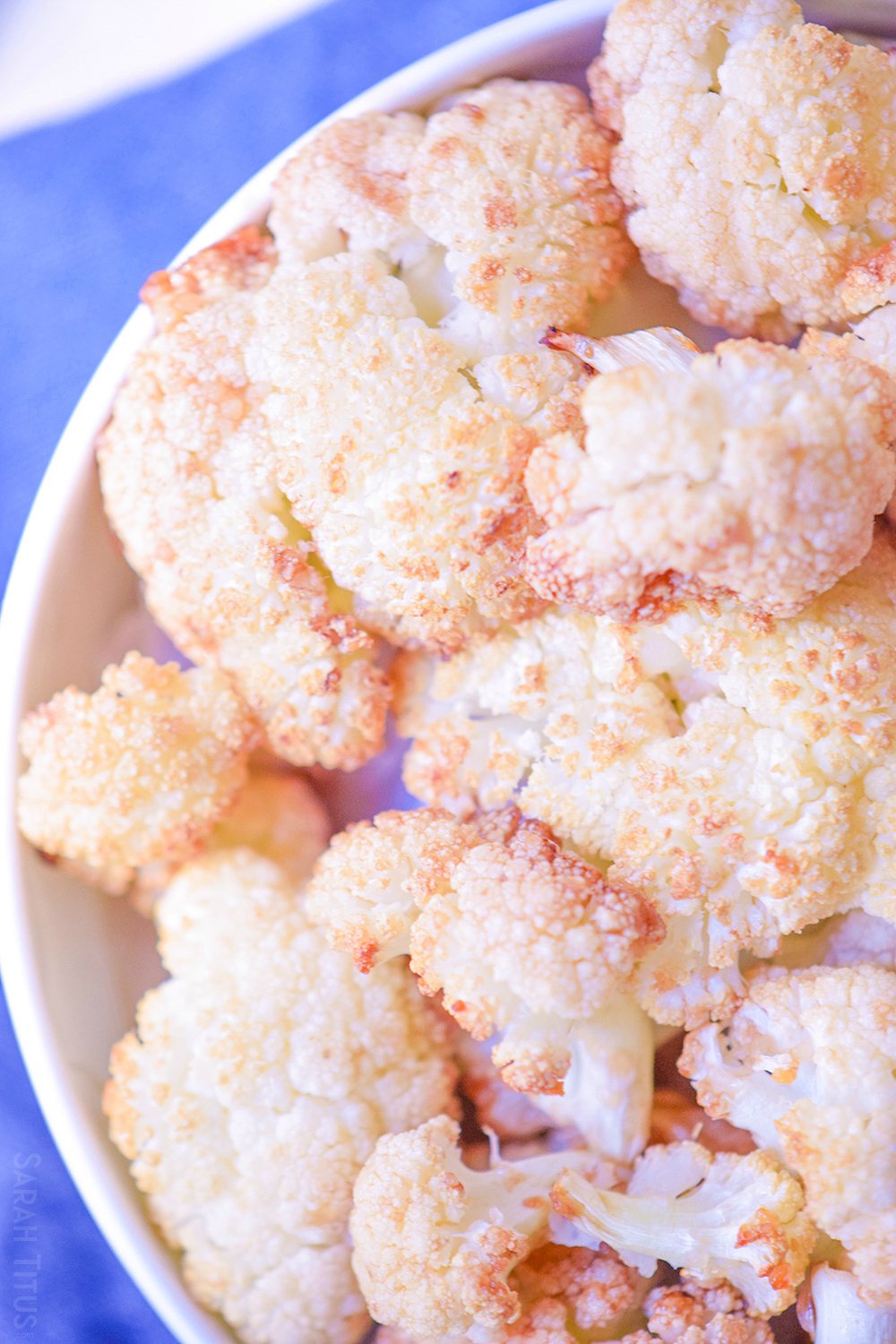 These Sticky Cauliflower Bites make a great side dish for family dinners or appetizer at your next get-together and are the perfect way to get your kids hooked on veggies!
