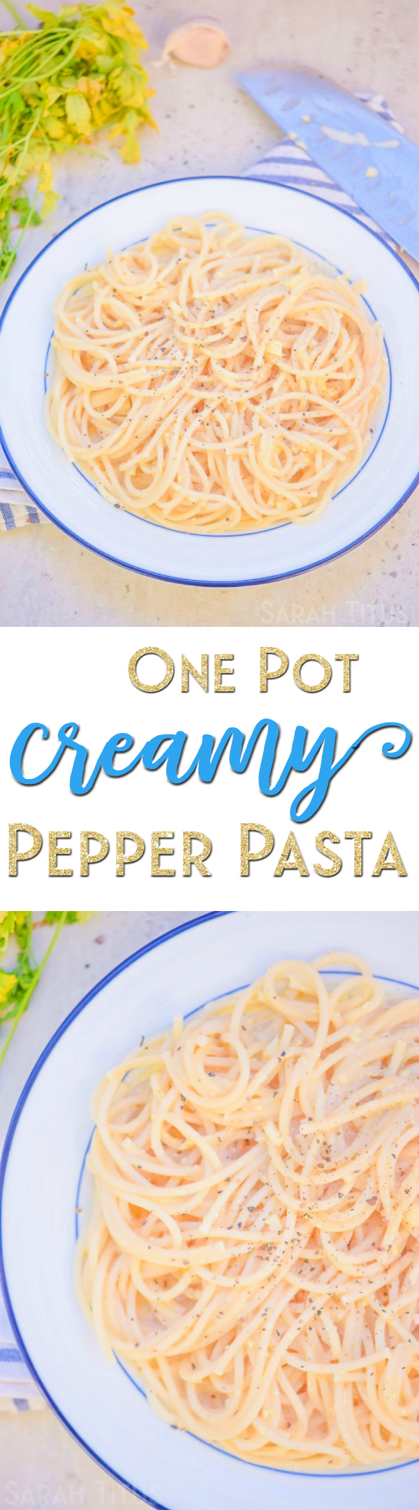 When life gets hectic during the week, this is your saving grace! This One Pot Creamy Pepper Pasta is delicious, easy to make, and a huge hit with family!