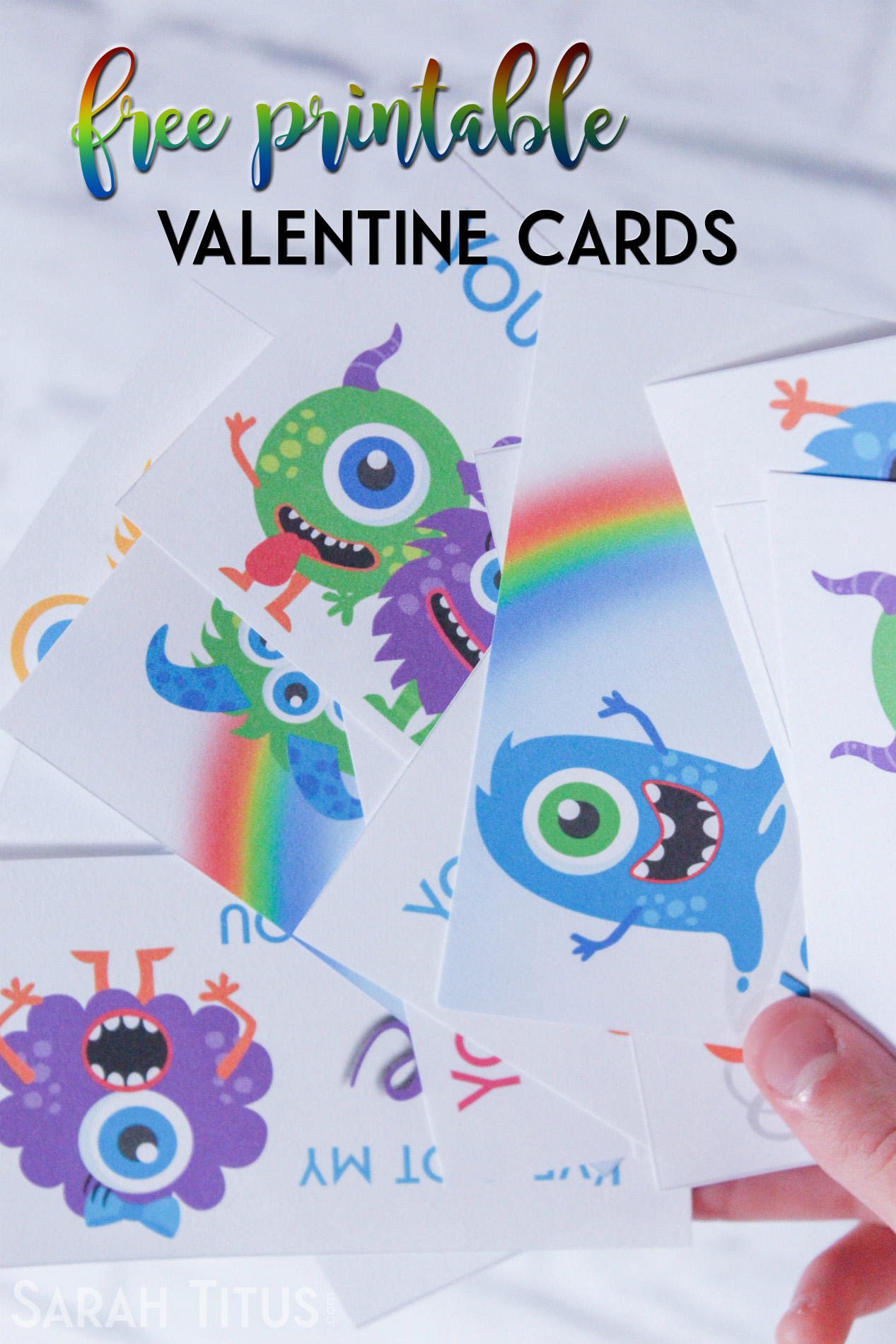 No newsletter sign up, no click bait, no gimmicks. Just straight up free printable valentine cards for your kids that are super cute.