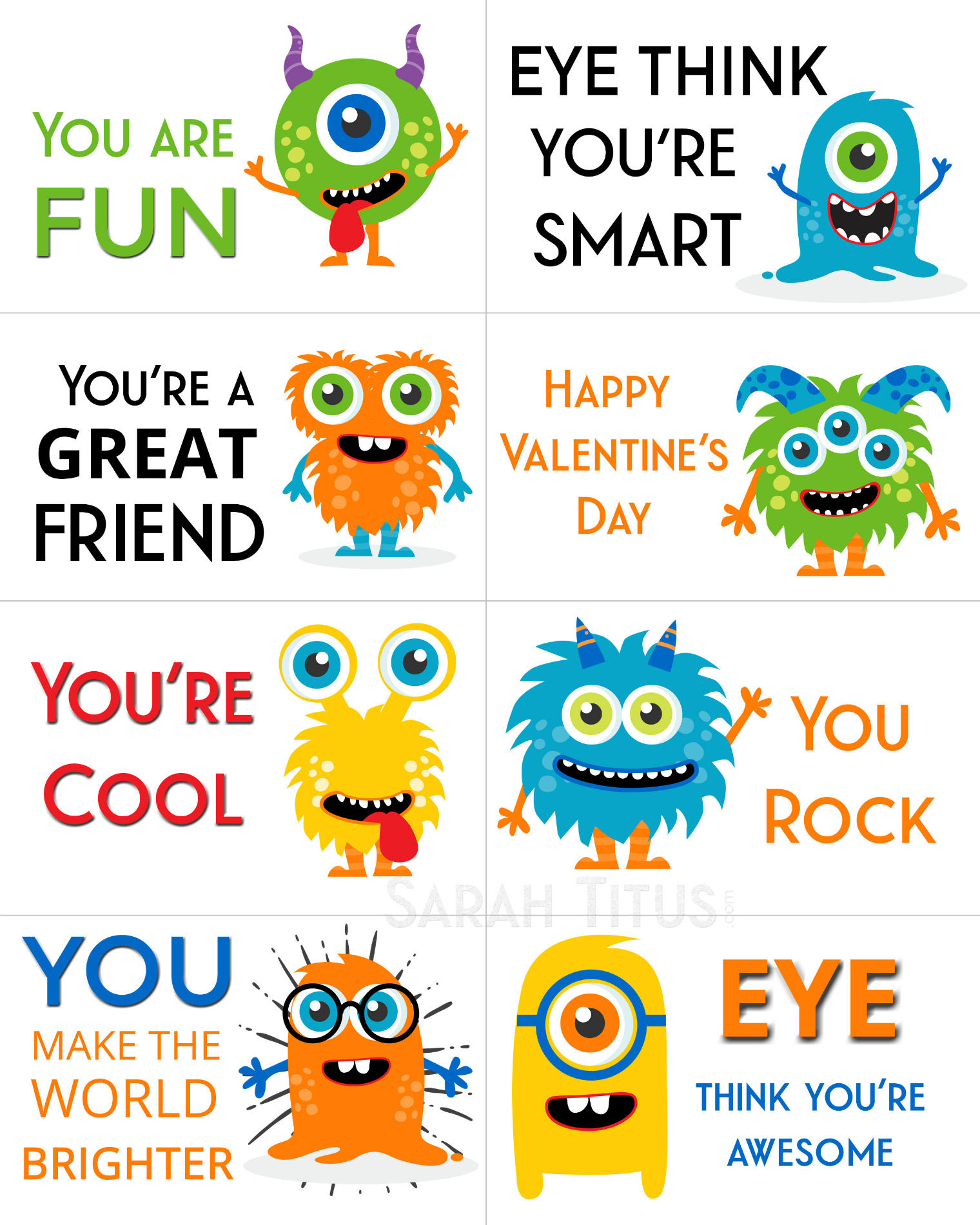 image regarding Printable Kid Valentines referred to as Totally free Printable Valentine Playing cards - Sarah Titus