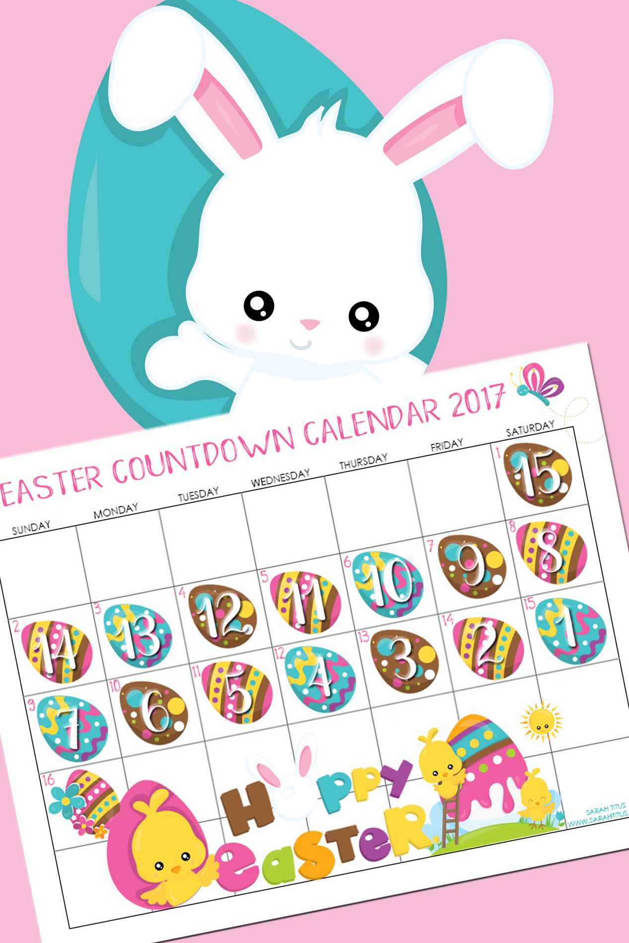 This unique Easter countdown calendar will be such a fun thing you can do with your family! Your kids will LOVE IT!