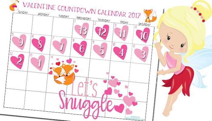 Valentine Countdown Calendar 2017