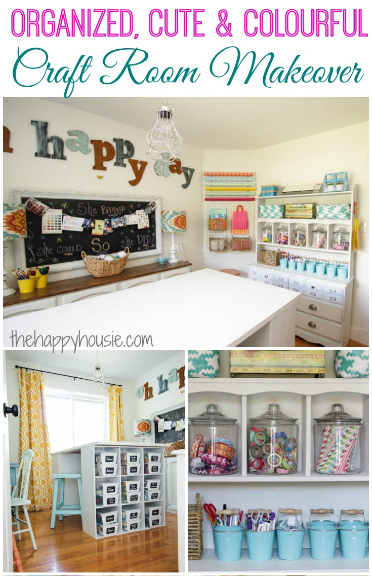 Crafts are a great way to encourage creativity in your family, but if not kept in check your craft space can become an out of control mess! Check out how this mom reorganized her craft room into a beautiful, functional, clean space!