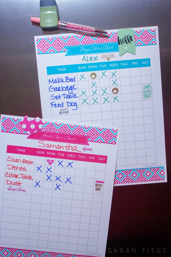 Creating a Chore Chart That is Right For You