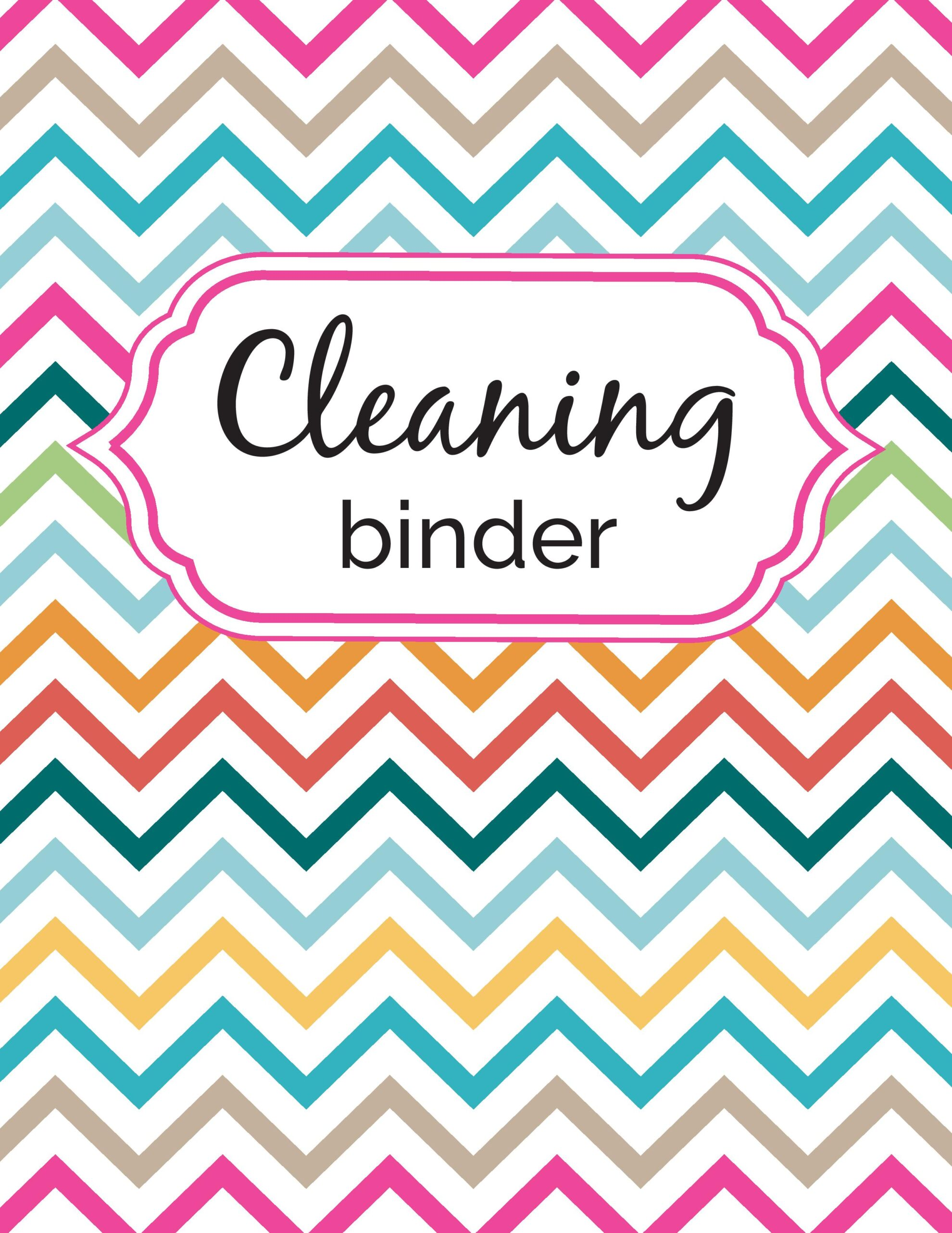 Cleaning Binder: Covers / Spines / Dividers - Sarah Titus