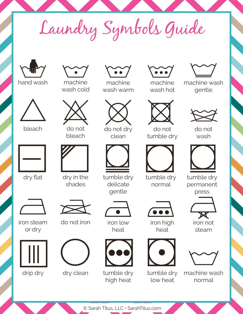 Cleaning Binder Laundry Symbols Guide Sarah Titus