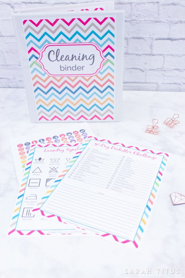 Cleaning Binder Printables