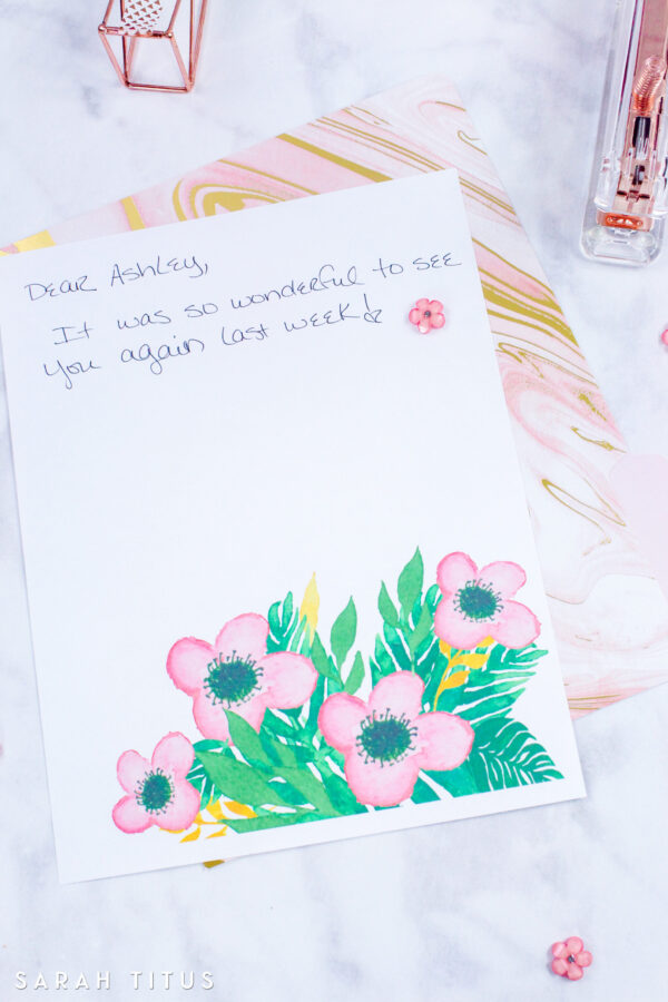 Flowers Stationary