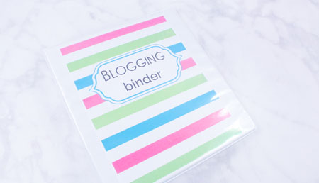 The One Blogging Binder You Need