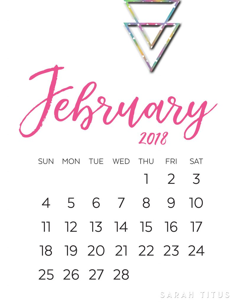 free blank online calendars february 2018 sarah titus