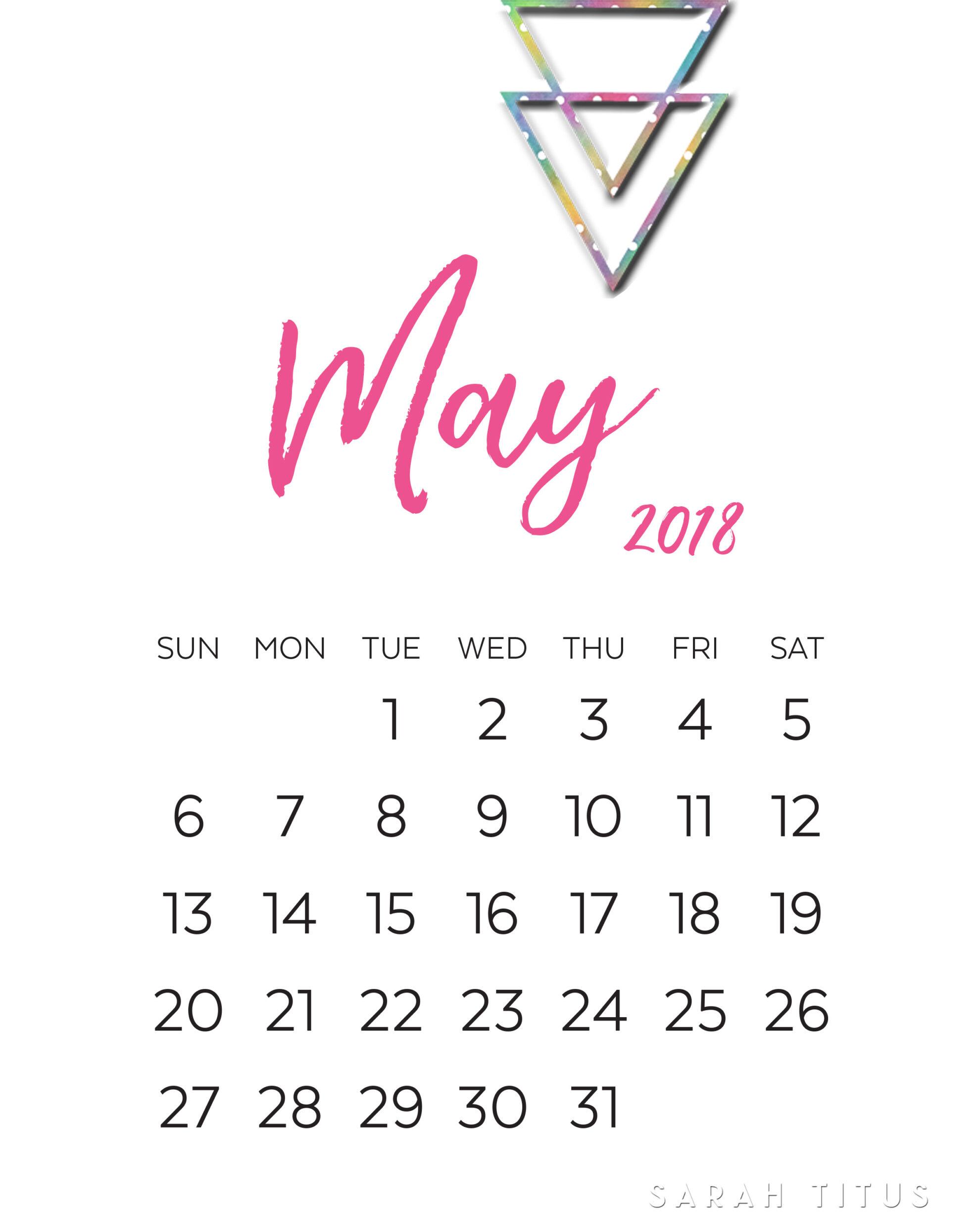 2018 calendars printable