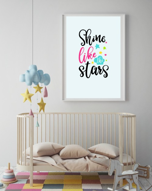 What a cute design to hang in your girl's room!