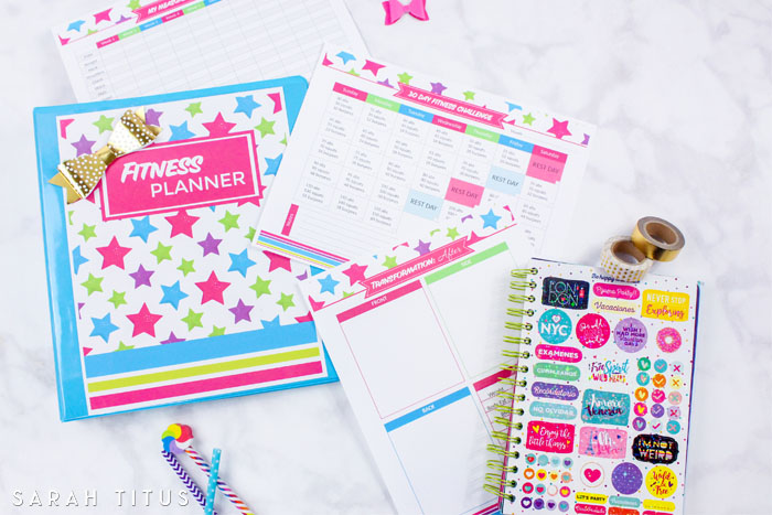 Whether you're just starting your exercise routine or been at it for years, this fitness planner free printables set will help you get in shape and organize your fitness plan.