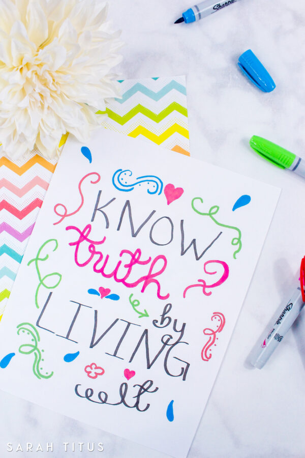 If you've thought about handlettering, but haven't started yet, I invite you to join me on my journey! It's going to be a lot of fun, plus get a free printable!