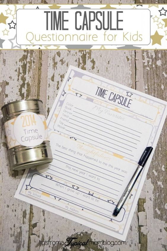 Freeze time with these Time Capsule printable. You will be so thankful you did.
