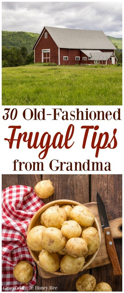 As we all know, Grandma knows best! Check these amazing tips for becoming  an extra frugal person :)