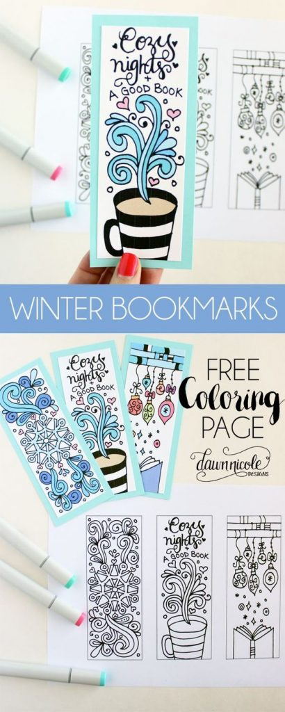 Do you like reading? These winter bookmarks printable are so beautifully designed.