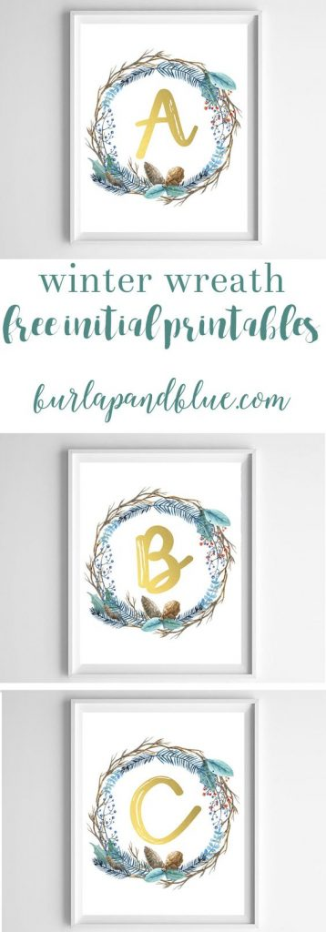 I love monograms! I mean, they have so much potential, print them for you or as gift.