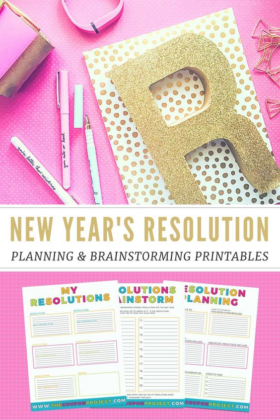 Don't let your resolutions fade away. Instead, plan and stick to them with this printable.