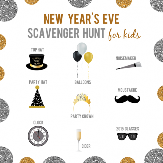 Hand this printable to your kids so they can have fun on New Year's Eve!