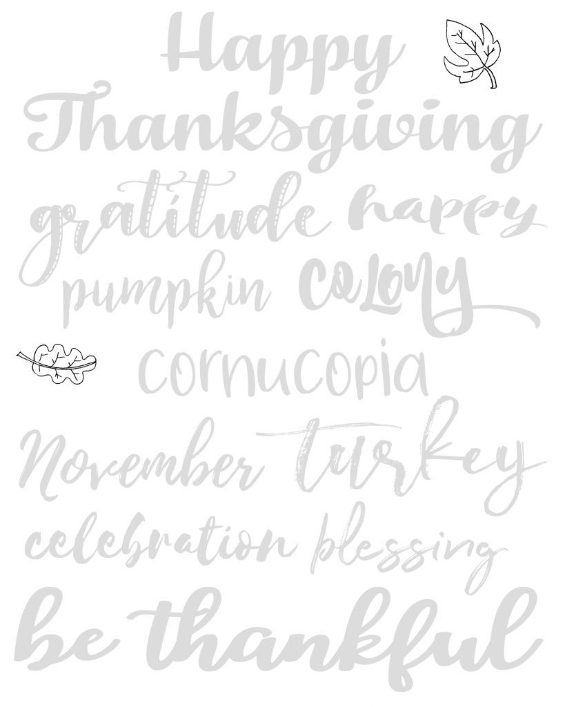 Free Thanksgiving Handlettering Practice Sheets