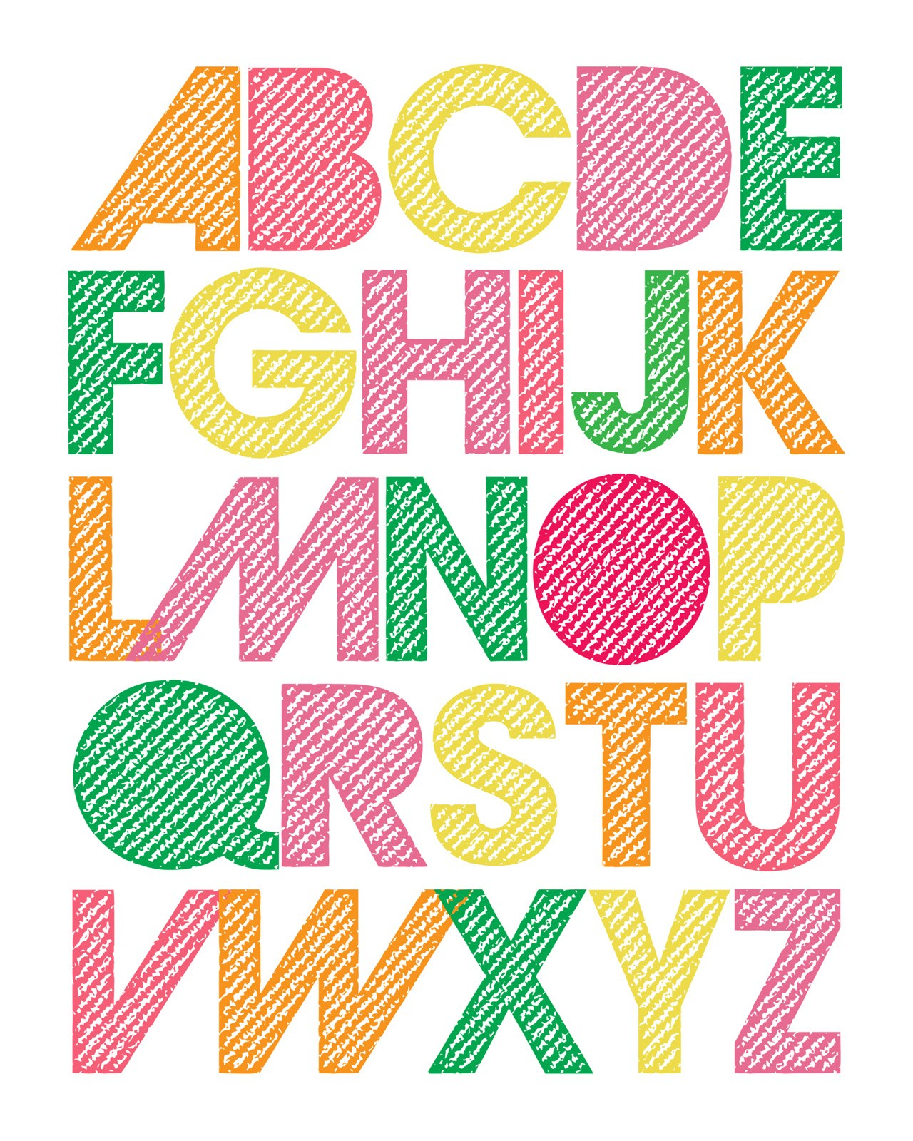 This alphabet printable is so adorable. Would be super cute for an alphabet themed nursery!