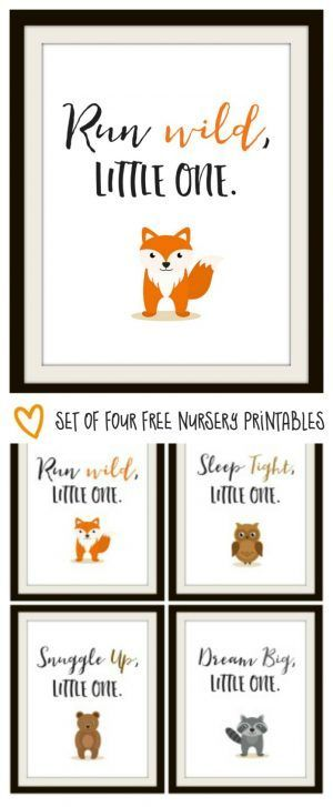These animal wall art prints are SUPER CUTE for your little child's room!