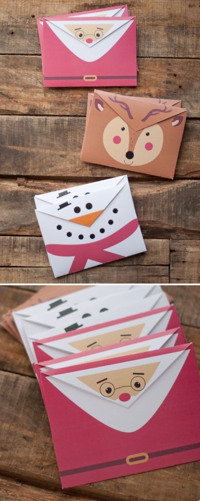 Aren't these envelopes stinkin' cute? Use them for Christmas cards, gift cards, etc.