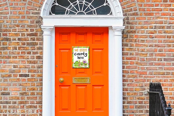 Halloween Printable Door Signs & Halloween Printable Door Signs - Sarah Titus