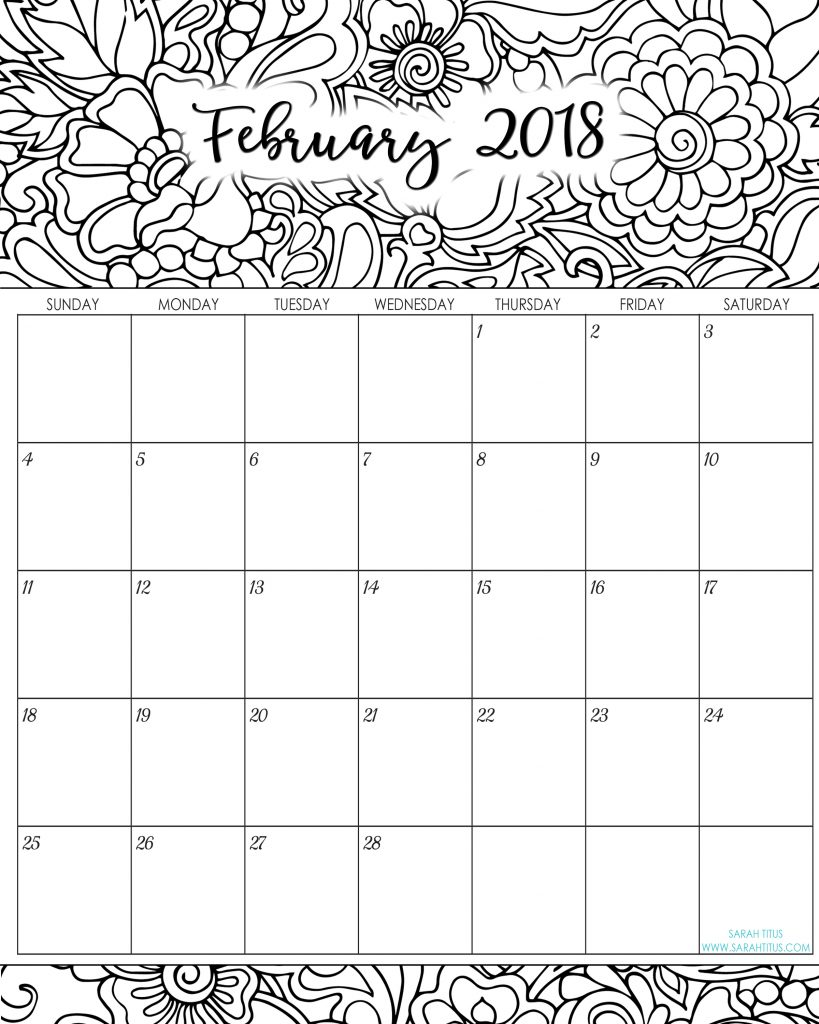 free blank online calendars february 2018 sarah titus