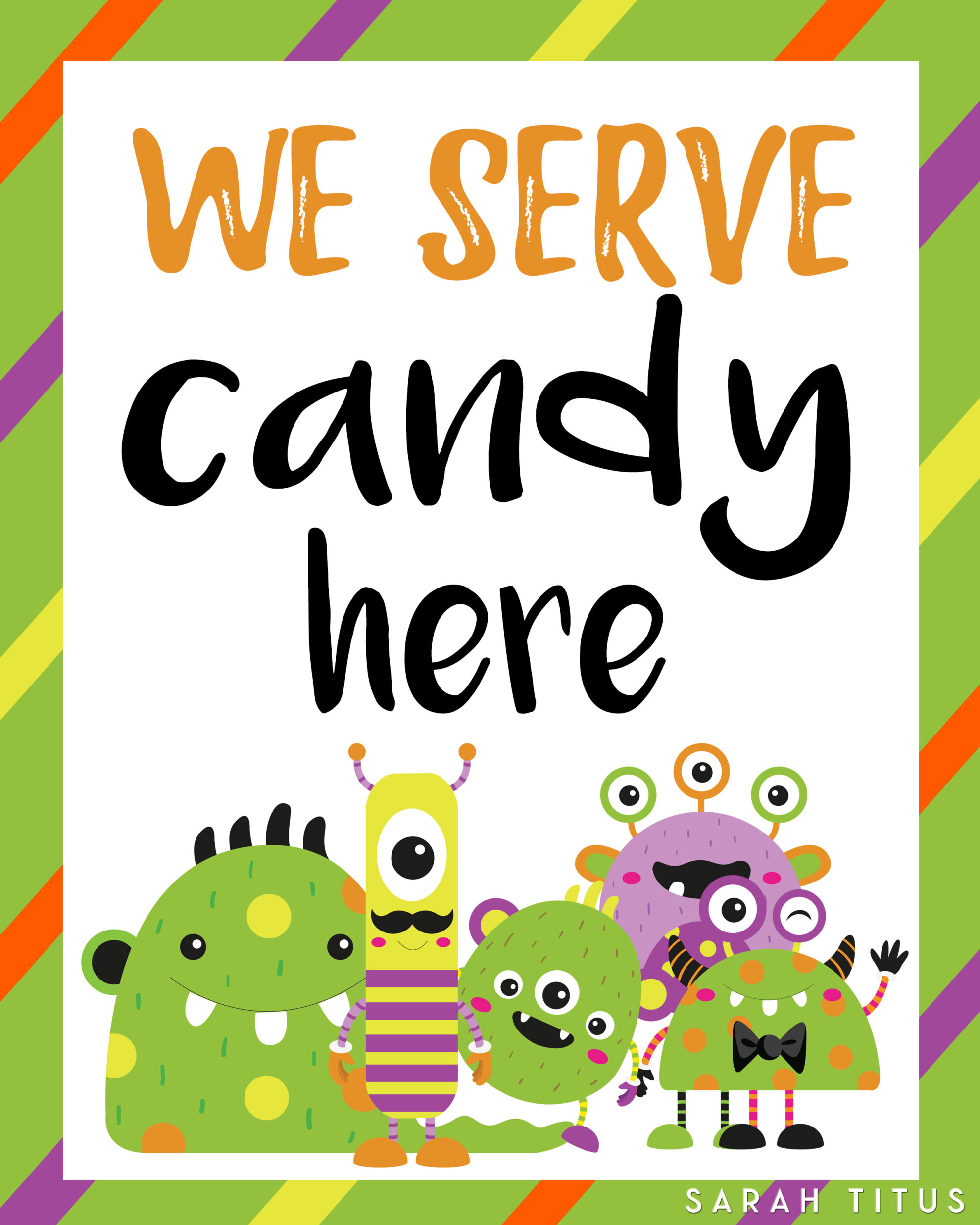 halloween printable door signs sarah titus