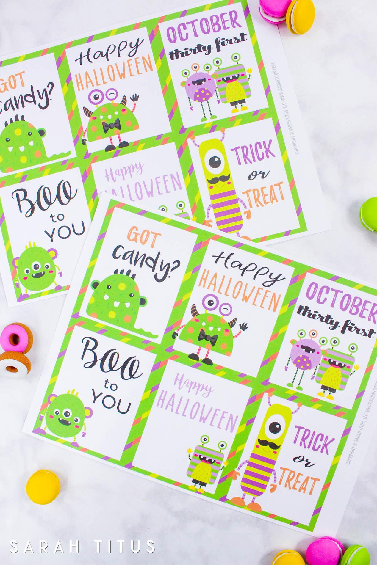photo regarding Printable Memory Cards referred to as Halloween Free of charge Printable Memory Playing cards - Sarah Titus