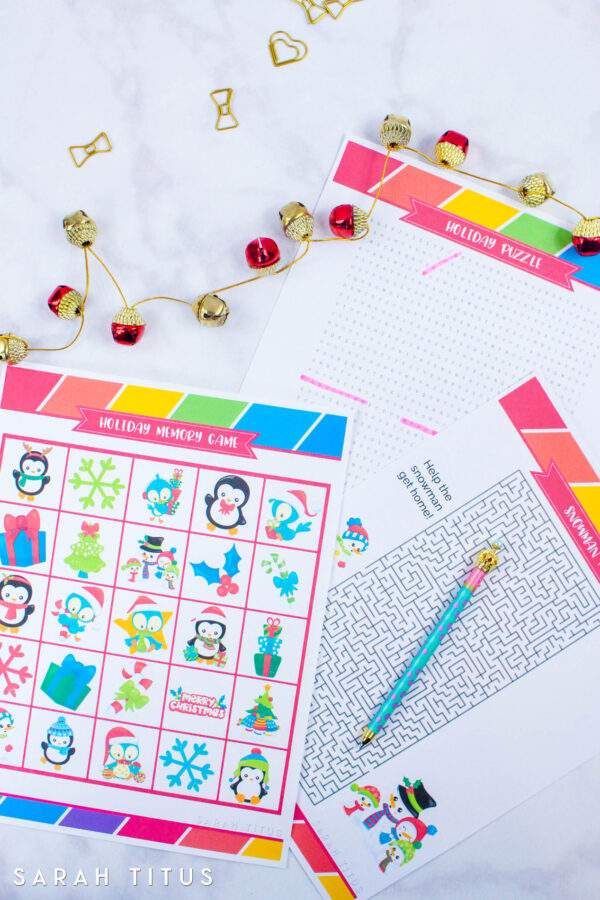 Free Printable Holiday Games That You Will Love