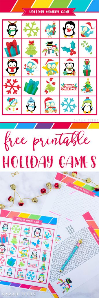 Free Printable Holiday Games That You Will Love Sarah Titus