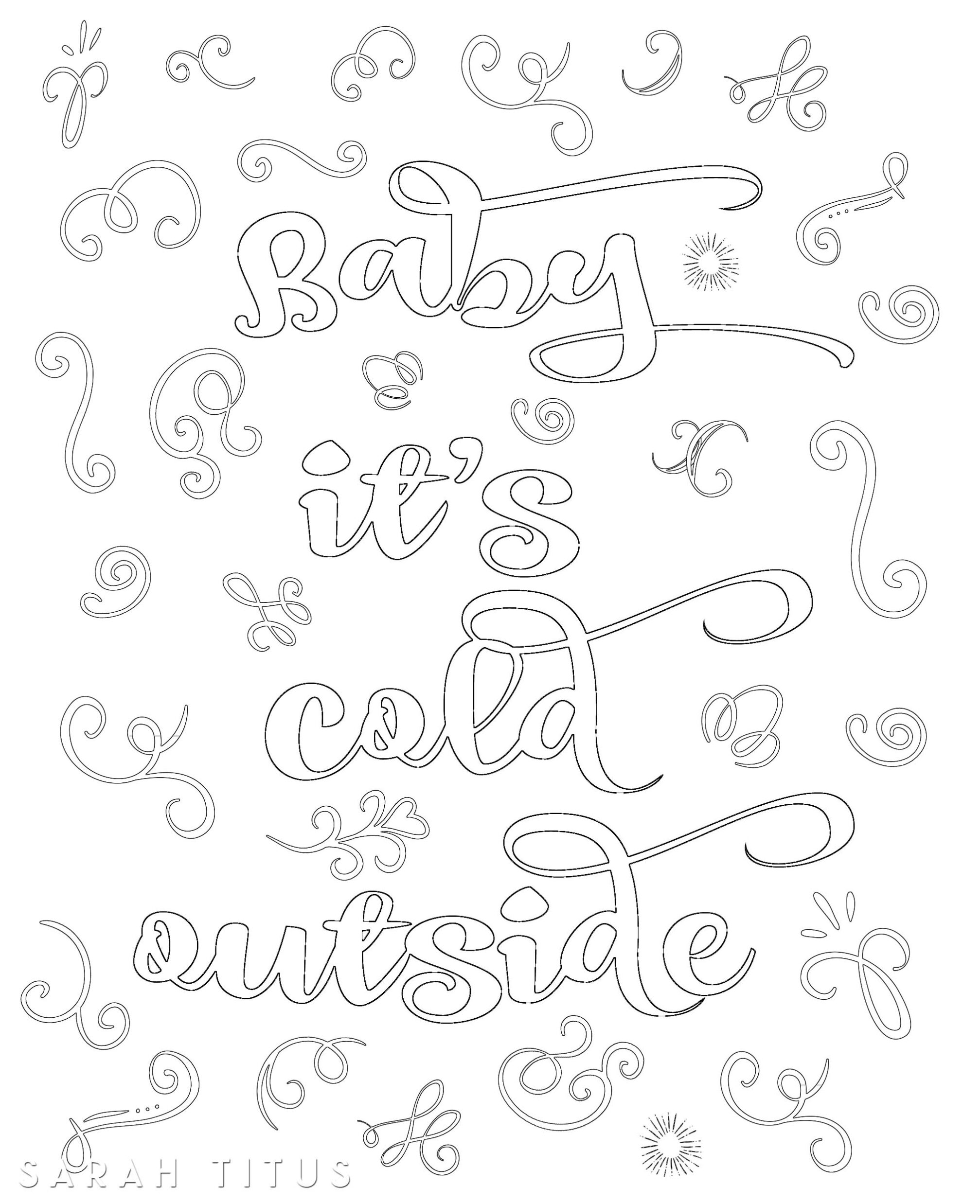 Free Printable Christmas Coloring Sheets Sarah Titus
