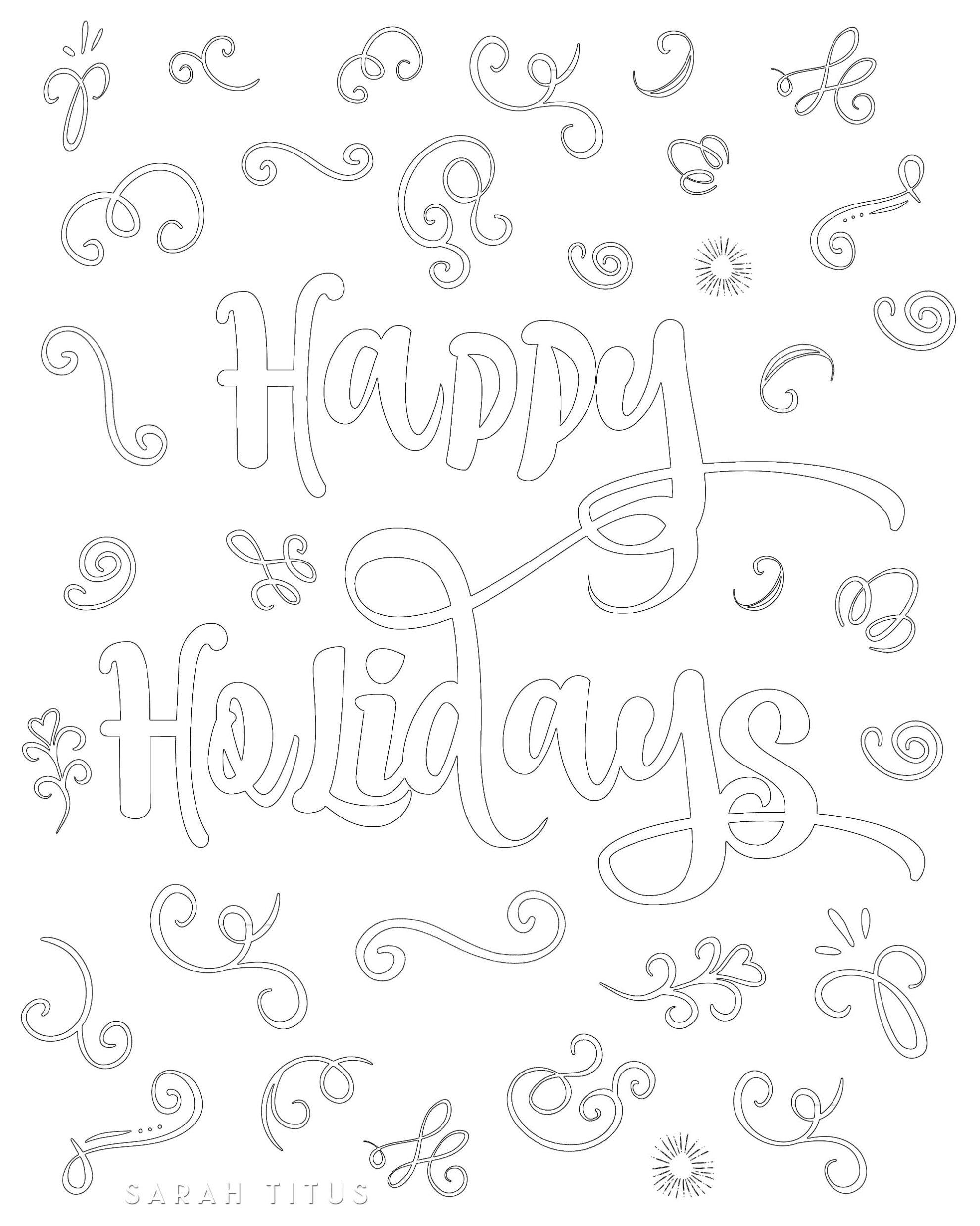 Free Printable Christmas Coloring Sheets - Sarah Titus