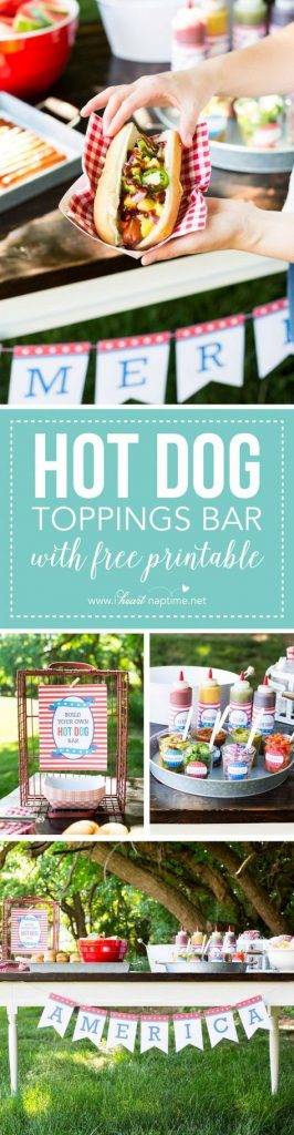 Are you grilling this 4th of July? Well, go and get this super cute printable to personalize your toppings and more.