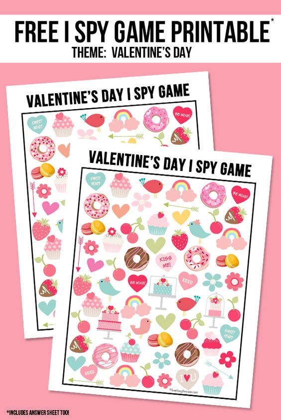 A game for you and your little one to have some fun on Valentine's day!