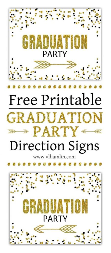 Make sure people know where your graduation party is with these Direction Signs.