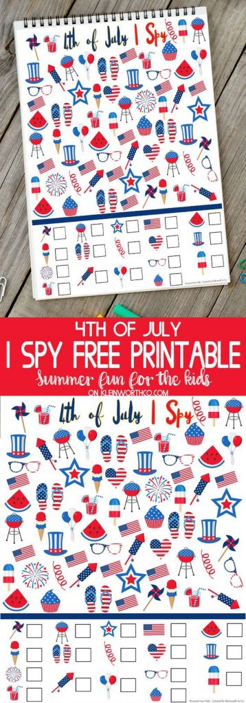 What a cute and well designed I spy game for your little ones for this 4th of July.