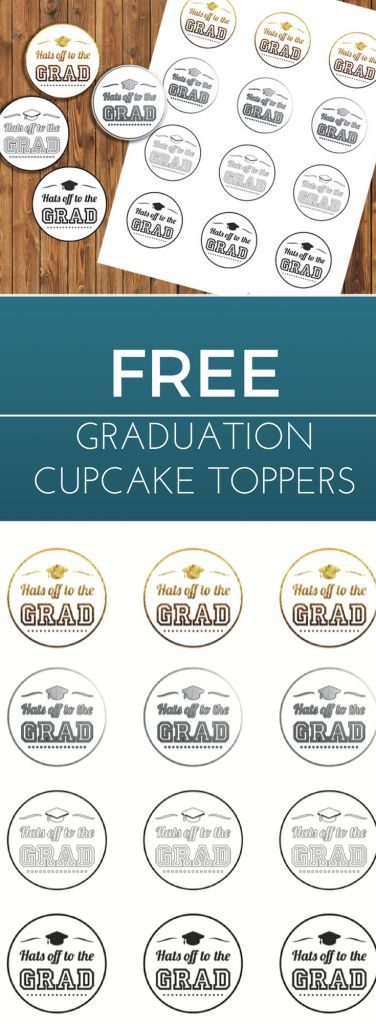 Do you plan to bake some cupcakes for your graduation party? This toppers will add a great decoration!