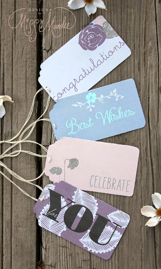 No need to pay for expensive gift tags. Get these graduation ones for free to mark your presents.